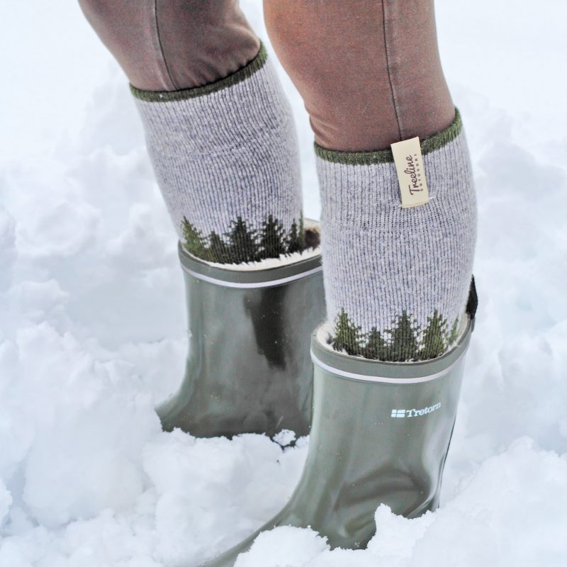 Treeline Skookumchuck Socks Designed by Hank White Co.