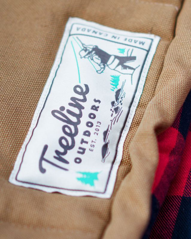 Treeline Outdoors label design by Hank White Co