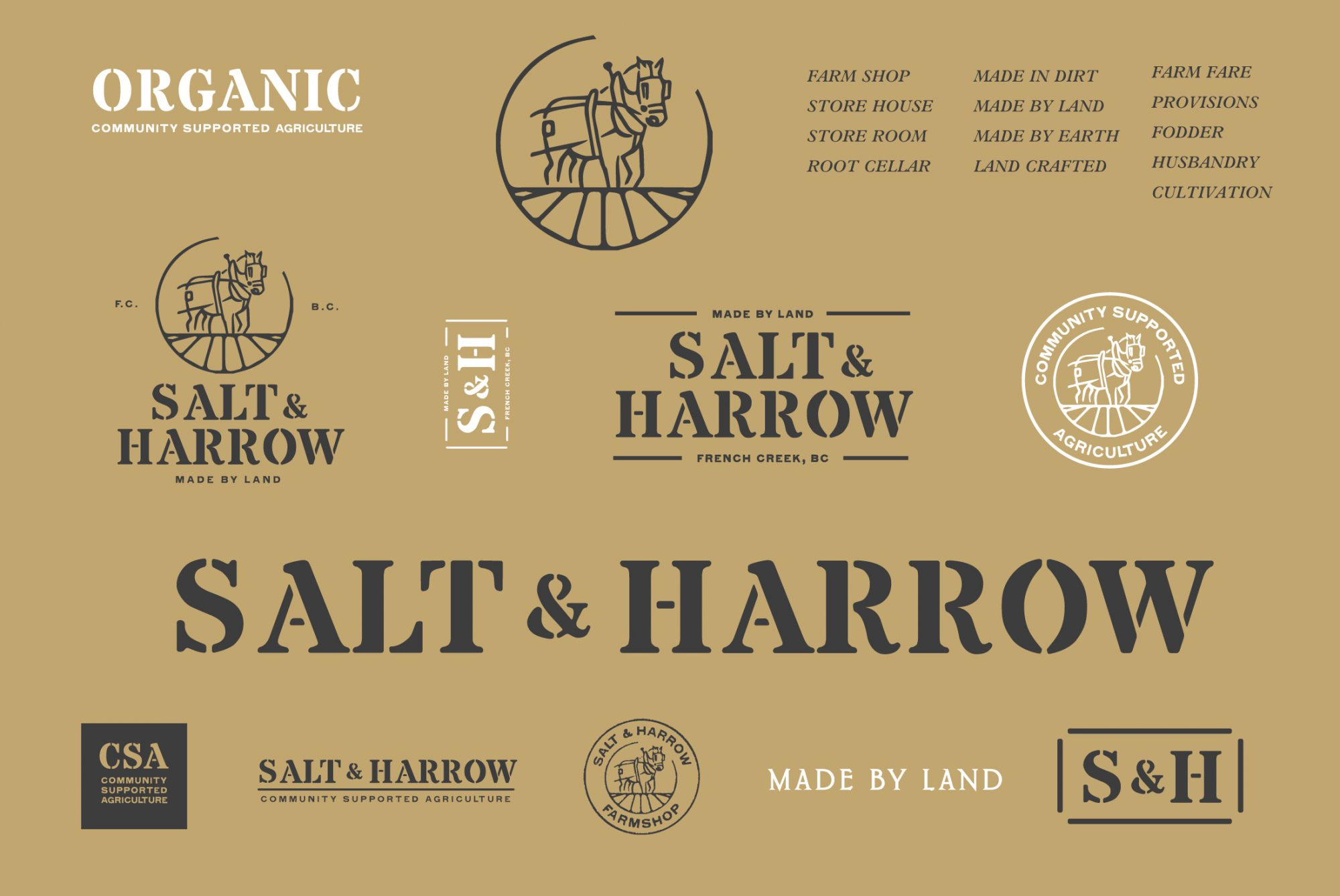 Salt and Harrow - Branding by Hank White Co