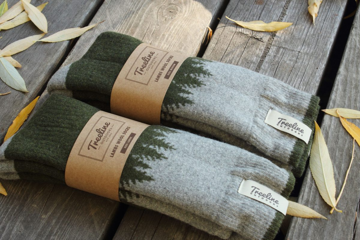 Treeline Sock design by Hank White Co.
